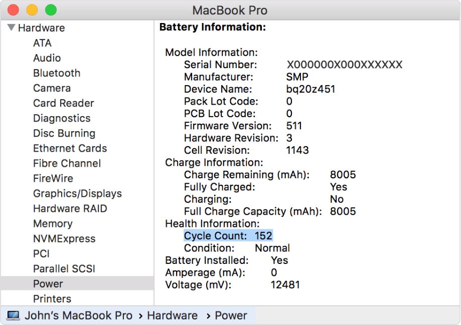 Cara Mengetahui Jumlah Cycle Count Baterai di MacBook