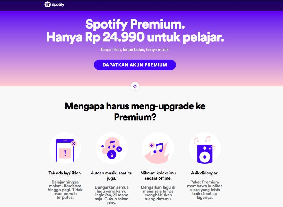 Spotify Premium Harga Pelajar Akhirnya Dirilis Murah Ya