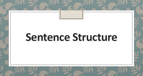 sentence-structure-and-types